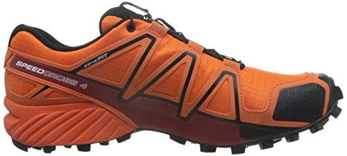 Salomon Speedcross 4, Chaussures à Randonnée Homme Orange (Flame/Black/Red Dalhia)