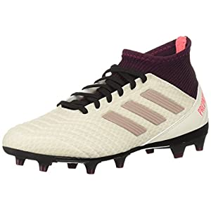 adidas Performance Women's Predator 18.3 Firm Ground Soccer Shoe, Talc/Vapour Grey/Maroon, 7 M