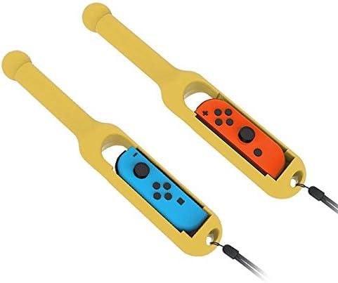 TUTUO Palillo de Tambor para Nintendo Switch Joy-con, Switch Joy-con Controller Grips para Taiko Drum Master y más (2 Pack): Amazon.es: Electrónica