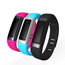 Lincass U9 Fashion Pedometer Wristband Waterproof Bluetooth Smart Bracelet Calorie Counter Multifunctional Wearable Devices for IOS Android Phone Samsung Sony,Oppo, HTC,Huawei (Blue)