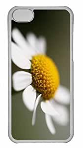 Customized iphone 5C PC Transparent Case - Daisy Flower Macro Personalized Cover