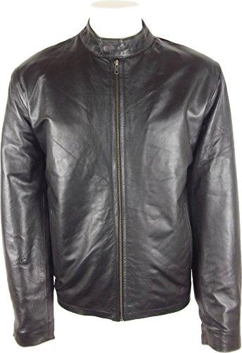 UNICORN Hommes Classique Manteau de mode - Réel cuir veste - Noir Nappa #Y4