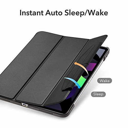 ESR Trifold Case for iPad Air 4 2020 10.9 Inch [Trifold Smart Case] [Auto Sleep/Wake Cover] [Stand Case with Clasp] Ascend Series - Black
