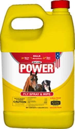 DURVET FLY 003-1021 699757 Power Fly Spray and Wipe for Horses, Gallon