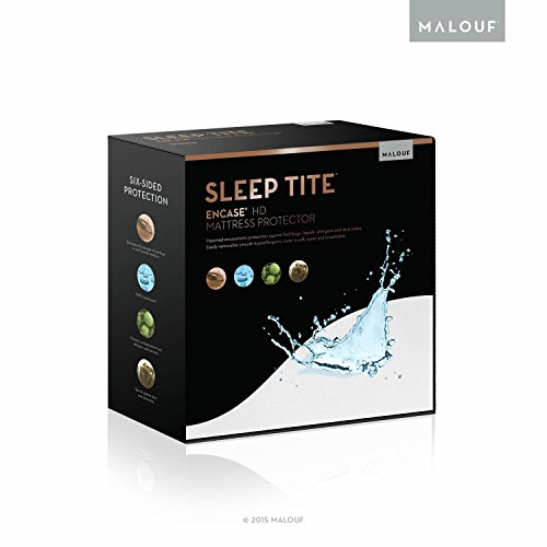 SLEEP TITE ENCASE Lab Certified Bed Bug Proof Mattress Encasement Protector - Hypoallergenic - 100% Waterproof - 15 Year Warranty - Vinyl Free - Queen