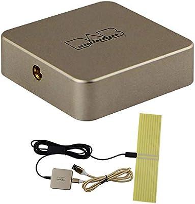 Radio de Coche Caja, Externa Radio Digital DAB Caja Amplificada Alimentado por USB para Coche Radio Android 5.1 y ...