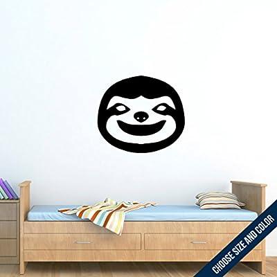 Urbandecal Sloth Wall Decal, Sticker, Slate Grey 54X46 - Grey
