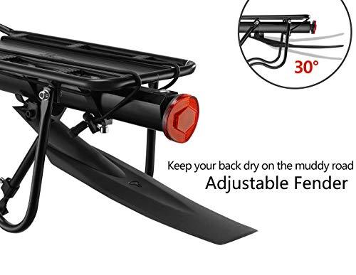 ROCKBROS Portapacchi Bici Alluminio Universle Regolabile per Bici MTB Portapacchi Posteriore Mountain Bike capacità… 3 spesavip