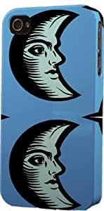 Vintage Moon Pattern Dimensional Case Fits Apple iPhone 4 or iPhone 4s