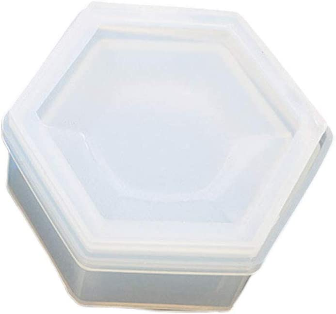 DIY Silicone Hexagon Jewellery Storage Box Mold Resin Making Mould Casting Craft