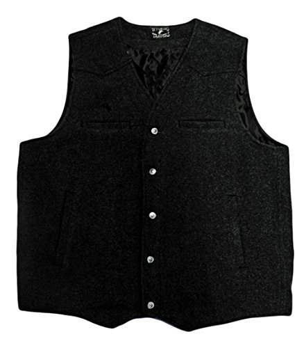 Wyoming Traders Men's Wool Vest X-Large Black