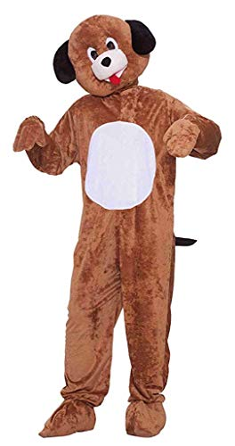Forum Novelties Men's Mister Puppy Plush Mascot Costume, Brown, Standard]()