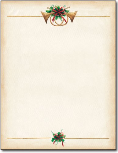 Stationery Holiday (Masterpiece Antique Horns Letterhead - 8.5 x 11 - 100 Sheets)