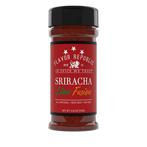 Sriracha Powder, Sweet and Spicy Sriracha-Lime Spice Blend. Hot Crushed Ground Herb Cayenne Pepper Seasoning Mix - Flavor Republic (4.8 oz)