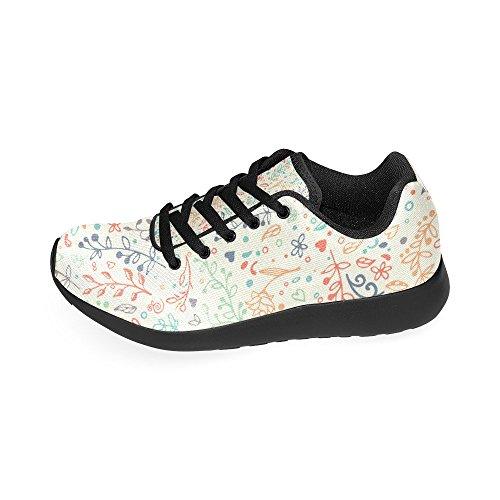 Para Zenzzle Lona de de Mujer Color1 Negro Negro Zapatillas Running qqCfS