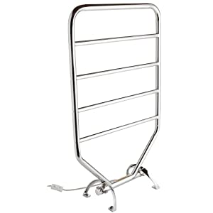 Warmrails RTC Mid Size Wall Mounted or Floor Standing Towel Warmer, 34-Inch, Chrome Finish