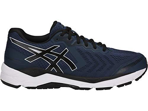 (ASICS Men's Gel-Foundation 13 Running Shoes, 10.5XW, Dark Blue/Black/White)