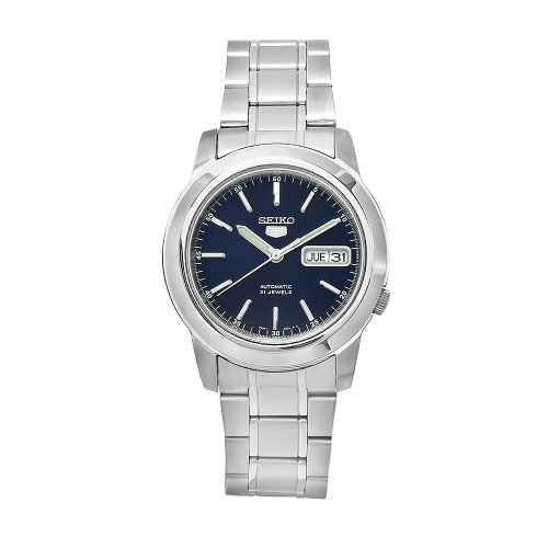 Mens Analog Blue Dial - Seiko Men's SNKE51K1S Stainless-Steel Analog with Blue Dial Watch