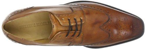 Melvin & Hamilton Jeff 14 - Zapatillas de casa de piel para hombre Marrón (Marron (Crust Tan))