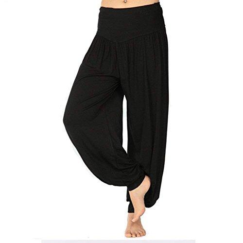 Moda Pantaloni Nahen Donna Di Lunga Tempo Estivi Taille Ragazza Basic Primaverile Harem Sportivi Elastica Trousers Nero Yoga Grazioso Libero Baggy Multistrato Eleganti rqSxrnE