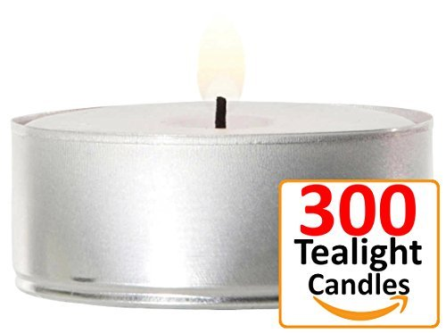 Yummi Set of 300 Unscented 4hr Tealight Candles