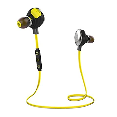 Morul U5plus Wireless Bluetooth Stereo Sport Headphones Waterproof Bluetooth Headset for Apple Iphone 6s, 6plus, 5s 4s Ipad,samsung Galaxy S6 and Other Android (Galaxy S6 Phone Pre Order)