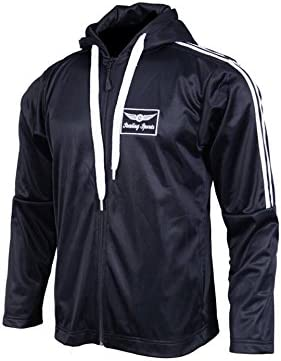 Sterling Sports/® Two Stripe Jogger Suit Mens Tracksuit Joggers Sweatshirt Hoddie Zip Up Top Jog Pants Cuffed Trouser Bottoms Sports Pants