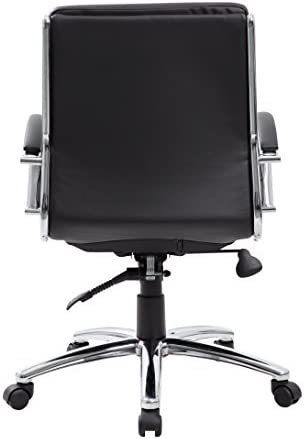 Boss Office Products Executive Mid Back CaressoftPlus Chair