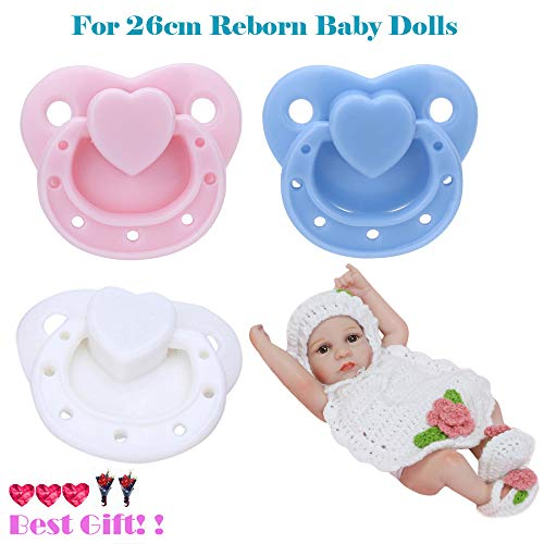 Lywey Life-Like Real New Dummy Pacifier for 26cm Reborn Baby Dolls with Internal Magnetic Accessories