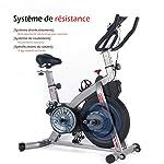 ISE-Bici-da-Spinning-Bicicletta-Cyclette-Fitness-Bike-per-Allenamento-a-Casa-Volano-da-5-kg-Regolabile-SY-7020