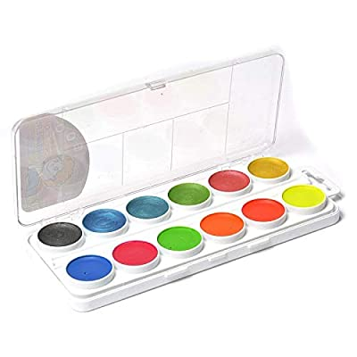 "Water colours ""TSVETIC"" 24 colours: 12 water colours, 6 pearl water colours, 6 fluorescent water colours: Home & Kitchen"