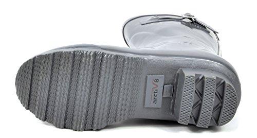 arctiv8 Womens Origin-Short Rubber Winter Snow Rainboots Grey Gloss 0nGRy