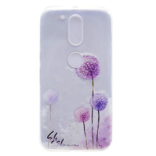 iPhone Moto G4 / G4 Plus Coque , Leiai Transparent Mode Pissenlit Ultra-mince Clear Silicone Doux TPU Housse Gel Etui Case Cover pour Apple iPhone Moto G4 / G4 Plus