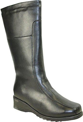 Sh4536 Boots Fur Women Black Lining Knee 11m High Kozi Winter qxFgw66t