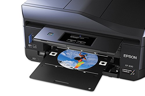 Expression Premium Xp-830 Wireless Small-In-One Printer, Copy/Print/Scan (Cd Disc Printer)