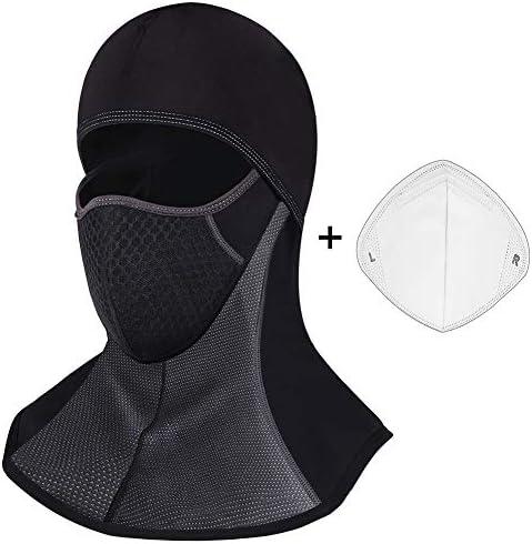 ROTTO Pasamontañas Moto Negro Impermeable Esquí Ciclismo Snowboard Máscara Facial de Deportes al Aire Libre Calentar a Prueba de Viento Tamaño Universal