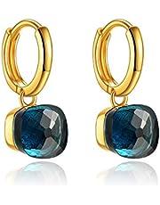 Metjakt, classici orecchini pendenti in argento sterling 925 massiccio, orecchini per donne, gioielli raffinati