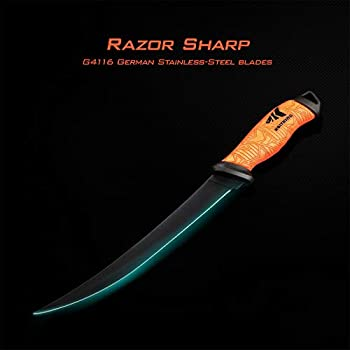 "Razor Sharp G4116 German Stainless-Steel Blade 5/"" KastKing Fillet Knife 9/""..."