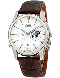 Artelier Silver Dial Leather Strap Mens Watch 69076904081LSBRN · Oris