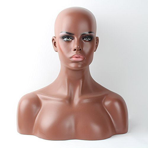 Beauty : Female Mannequin Head Model Stand Mannequin Manikin Wig Glasses Hat Display Hold