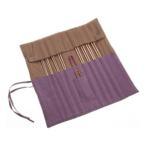 Pony P32802 | 35cm Maple Knitting Pins Set in Fabric Case 8 Sizes 2mm - 6mm by Pony
