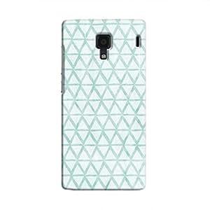 Cover It Up - Triangle Print Blue Redmi 1s Hard Case