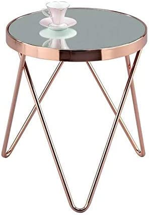 Aspect Puccini Mirrored Glass Round Side Coffee End Lamp Table