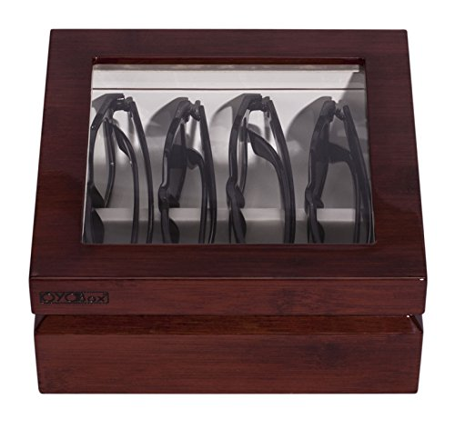 OYOBox Mini Designer Eyewear Box (Mahogany) by OYOBox