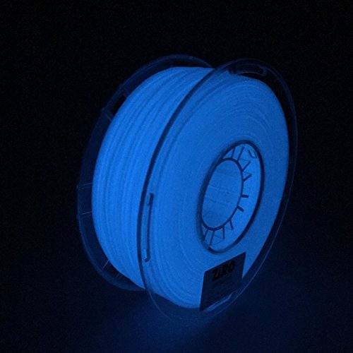 ZIRO 3D Printer Filament PLA 1.75mm Glow In The Dark Color Series 1KG(2.2lbs), Dimensional Accuracy +/- 0.05mm, GID Blue by ZIRO