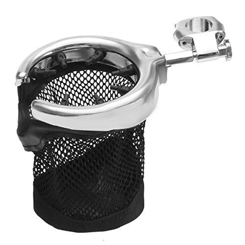 Motorcycle Handlebar Drink Cup Holder Metal Universal - Motorcycle Motorcycle DIY Kits -1 X Drink Holder]()