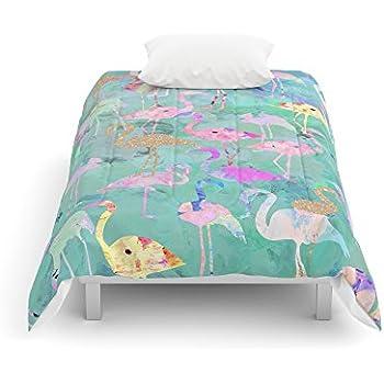 "Society6 Flamingo Party Comforters Twin: 68"" x 88"""