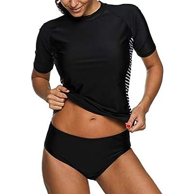 beautyin Women's Rash Guard Short Sleeve Rashguard Sun Protection Shirt UPF 50+: Clothing