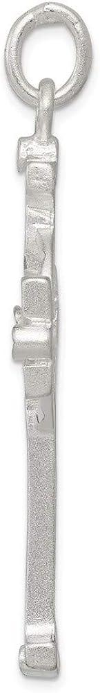 Jewel Tie Sterling Silver Iona Cross Pendant 2.6 in x 1.22 in