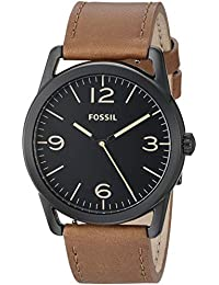 Men's 'Ledger' Quartz Stainless Steel and Leather Watch,...